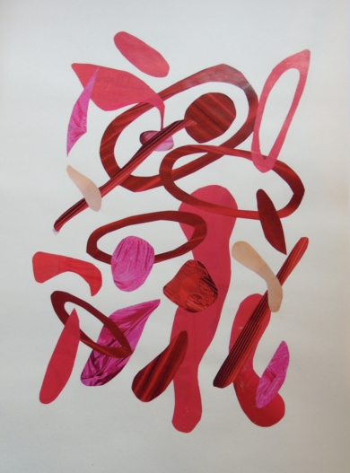 Mapografia roja #1|CollagedeFabiana Zapata| Compra arte en Flecha.es