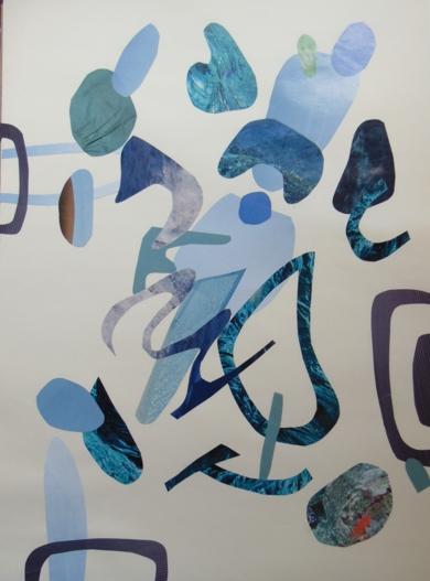 Mapografia charco|CollagedeFabiana Zapata| Compra arte en Flecha.es