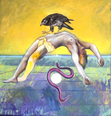 Y el infinito será siempre el silencio en mi oído.|PinturadeJuan Mateo Cabrera| Compra arte en Flecha.es