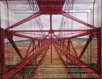 Puente colgante Portugalete|PinturadeJorge perez| Compra arte en Flecha.es