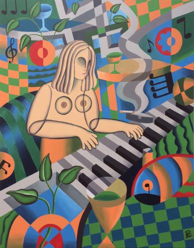 Le pianiste|PinturadePere Lluis León| Compra arte en Flecha.es