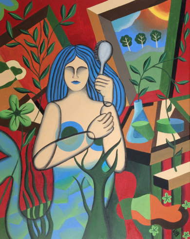 Sirène peignant ses cheveux|PinturadePere Lluis León| Compra arte en Flecha.es
