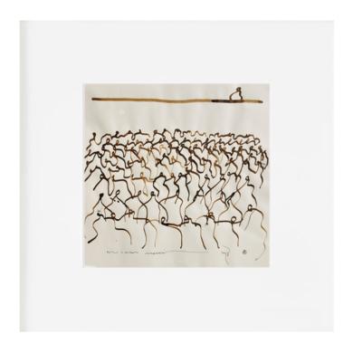Curvisme - 178 - Uno piensa todos miran|Obra gráficadeRICHARD MARTIN| Compra arte en Flecha.es