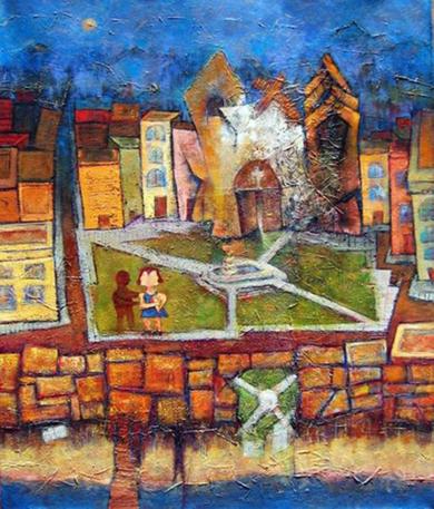 Cada Domigo a las 12 después de la Misa ...|PinturadeGossediletto| Compra arte en Flecha.es