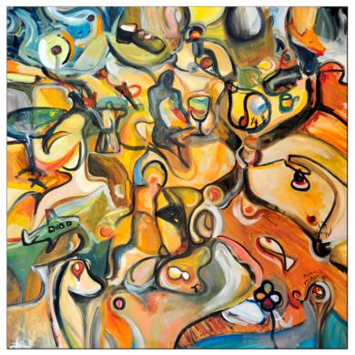 La habitación - curvisme 380|PinturadeRICHARD MARTIN| Compra arte en Flecha.es