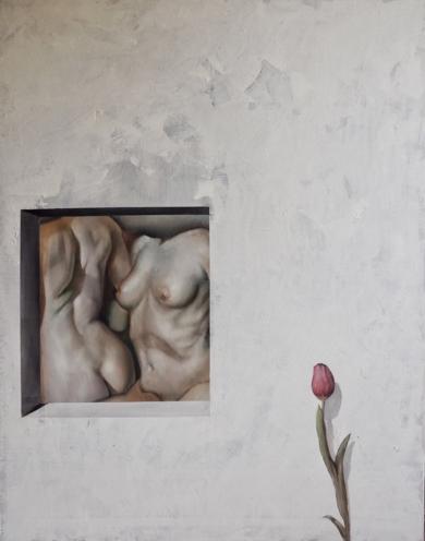 La Ventana y el Mirón|PinturadeVíctor Bayonas| Compra arte en Flecha.es