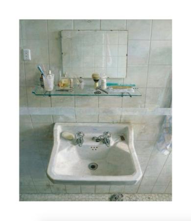 Lavabo y espejo|DigitaldeAntonio López| Compra arte en Flecha.es