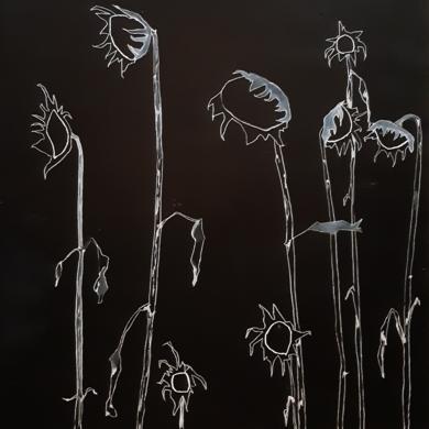 Girasoles|DibujodeAntonio  Vázquez| Compra arte en Flecha.es