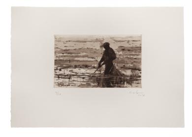 Pescador de Bagamoyo N 6|Obra gráficadeCalo Carratalá| Compra arte en Flecha.es