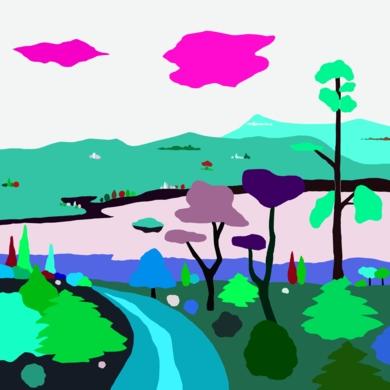 Paseo otoñal|DibujodeALEJOS| Compra arte en Flecha.es