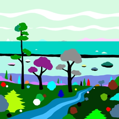 La marisma|DibujodeALEJOS| Compra arte en Flecha.es