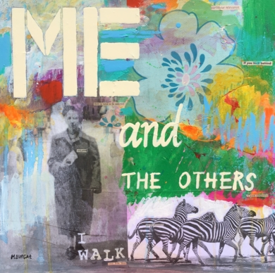 Me and the others|CollagedeMaría Burgaz| Compra arte en Flecha.es