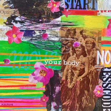 Move your body CollagedeMaría Burgaz  Compra arte en Flecha.es