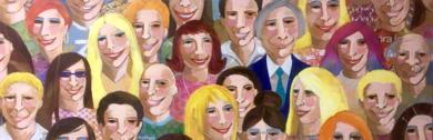 Gente sonriente|CollagedeMaría Burgaz| Compra arte en Flecha.es