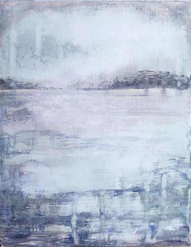 Frozen water|PinturadeLucia Garcia Corrales| Compra arte en Flecha.es