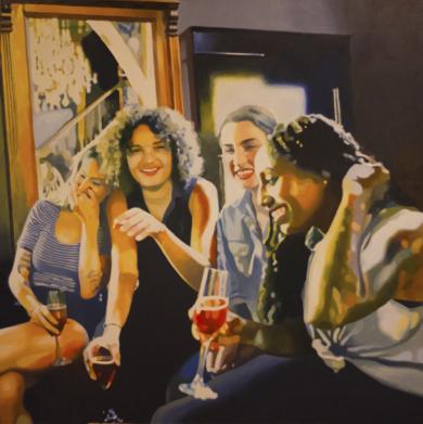 4 amigas|PinturadeJose Belloso| Compra arte en Flecha.es