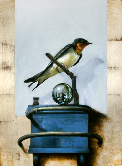 Golondrina y bola de crístal|PinturadeEnrique González| Compra arte en Flecha.es