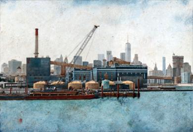 Manhattan From Brooklyn Navy Yard|FotografíadeCarlos Arriaga| Compra arte en Flecha.es