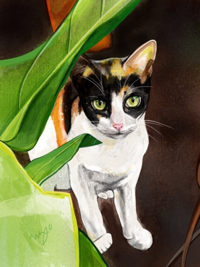 Kitty|DibujodeÁngeles Romo| Compra arte en Flecha.es