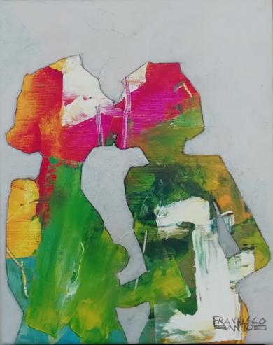 El beso 1|PinturadeFrancisco Santos| Compra arte en Flecha.es