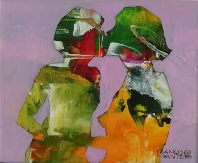 El beso 2|PinturadeFrancisco Santos| Compra arte en Flecha.es