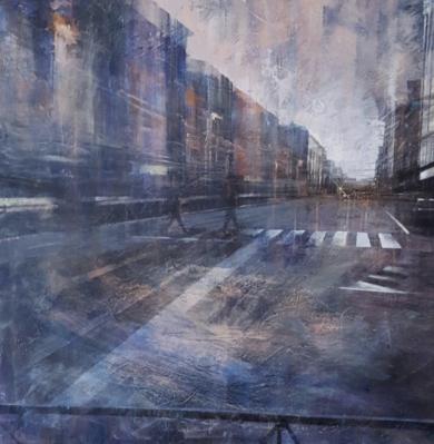 Paseo nocturno|PinturadeISABEL  AVILA| Compra arte en Flecha.es