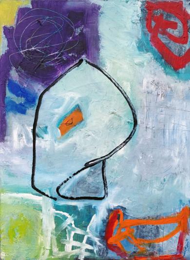 Espace Lignes 3 PinturadeAurelie Jeannin  Compra arte en Flecha.es