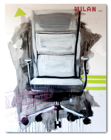 The office # la silla|PinturadeAlejandra de la Torre| Compra arte en Flecha.es