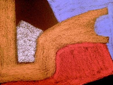 Formas sobre Negro I|DibujodeMercedes Azofra| Compra arte en Flecha.es