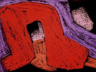 Formas sobre Negro II|DibujodeMercedes Azofra| Compra arte en Flecha.es