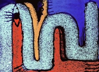 Formas sobre Negro III|DibujodeMercedes Azofra| Compra arte en Flecha.es