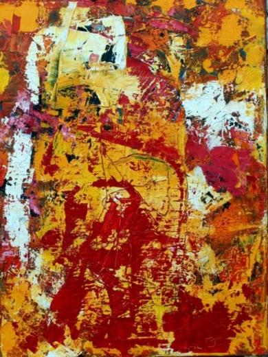 Vibrance Feu PinturadeAurelie Jeannin  Compra arte en Flecha.es