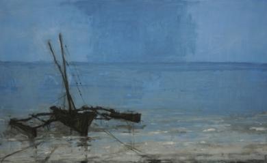 Ngalawa en Matterwe   N 1/ Zanzibar|PinturadeCalo Carratalá| Compra arte en Flecha.es