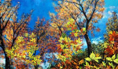 Arboles & Hojas|PinturadeGossediletto| Compra arte en Flecha.es