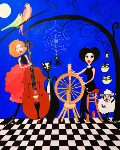 Velada Matilda|PinturadeÁngela Fernández Häring| Compra arte en Flecha.es