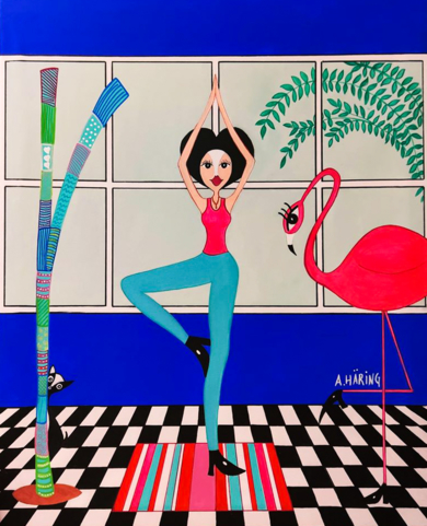 Matilda Yoguini|PinturadeÁngela Fernández Häring| Compra arte en Flecha.es