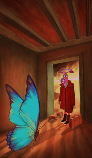 ROOM 9 (Unexpected Visitor)|DigitaldeHelena Revuelta| Compra arte en Flecha.es