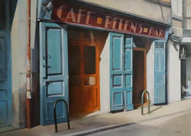 Café Belen- Madrid|PinturadeTOMAS CASTAÑO| Compra arte en Flecha.es