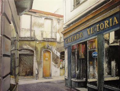 Calzados Victoria-León|PinturadeTOMAS CASTAÑO| Compra arte en Flecha.es
