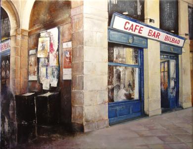 Bar Bilbao|PinturadeTOMAS CASTAÑO| Compra arte en Flecha.es