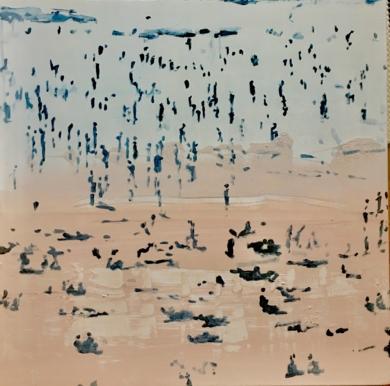 En la playa|PinturadeErika Nolte| Compra arte en Flecha.es