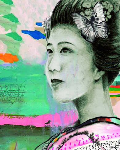 Viaje a Nara|CollagedeANA  SOLER   FERNÁNDEZ| Compra arte en Flecha.es