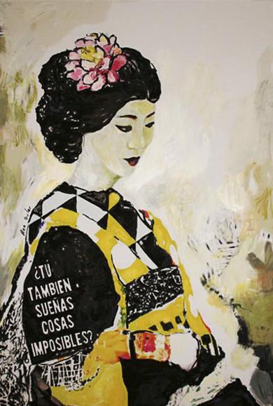La Dama del pueblo de las flores|CollagedeANA  SOLER   FERNÁNDEZ| Compra arte en Flecha.es