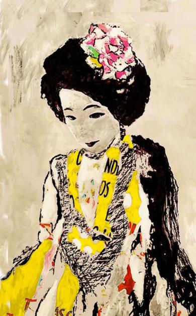 La dama del pueblo de las flores  II|CollagedeANA  SOLER   FERNÁNDEZ| Compra arte en Flecha.es