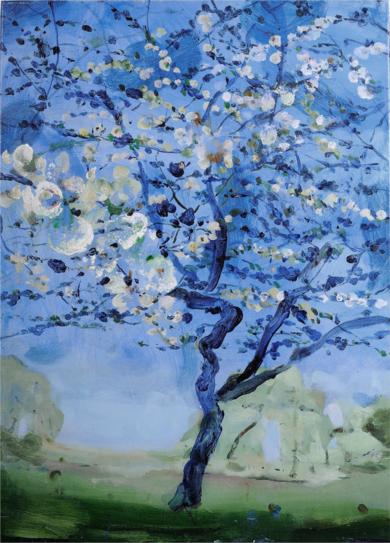 Cerezo Azul|PinturadeLuis Kerch| Compra arte en Flecha.es