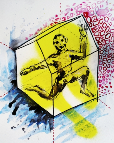 CUARENTENA|DibujodeLuisQuintano| Compra arte en Flecha.es