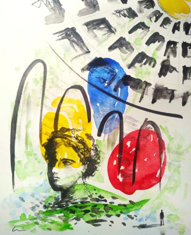 CIVILIZACIÓN|DibujodeLuisQuintano| Compra arte en Flecha.es