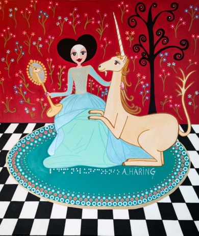 Matilda y el Unicornio|PinturadeÁngela Fernández Häring| Compra arte en Flecha.es