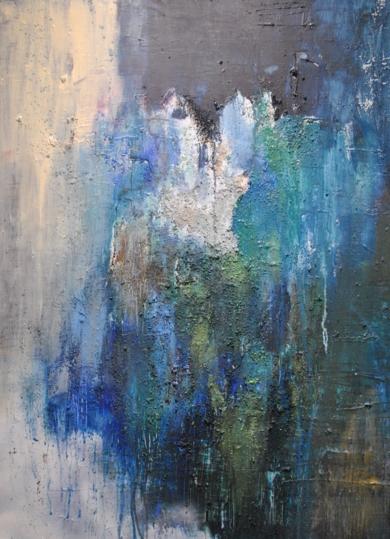 Azul|PinturadeInes Capella| Compra arte en Flecha.es