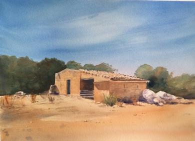 Caseta de ovejas, Mallorca|DibujodeChela Grijelmo| Compra arte en Flecha.es